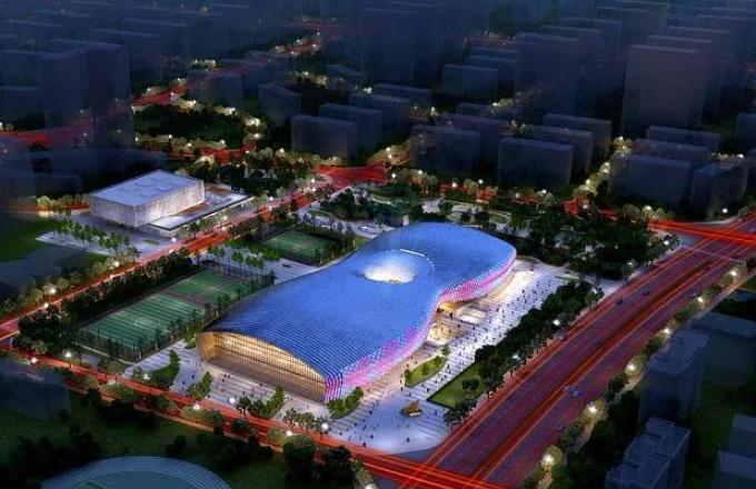 """成都大运会""""连体双馆""""冲刺预定节点 预计明年5月底全面竣工"""