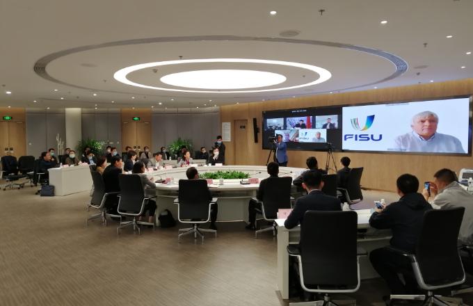 El Gobierno Municipal de Chengdu, la FISU y la FUSC celebraron una reunión en línea para prepararse para los Juegos Mundiales Universitarios