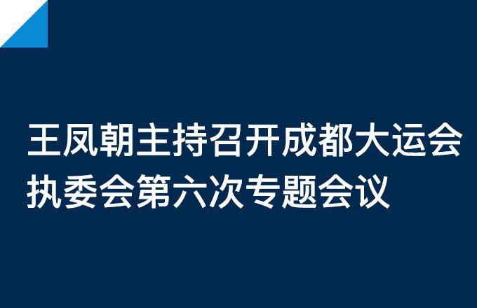 成都大运会执委会第六次专题会议召开
